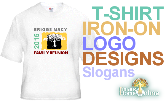 photograph about Printable Iron Ons named Printable Family members Reunion Tshirt Emblems Iron-Upon Transfers
